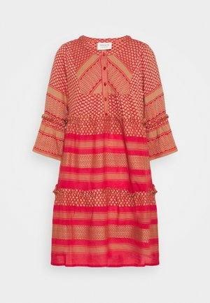 JADE DRESS - Day dress - camel/red