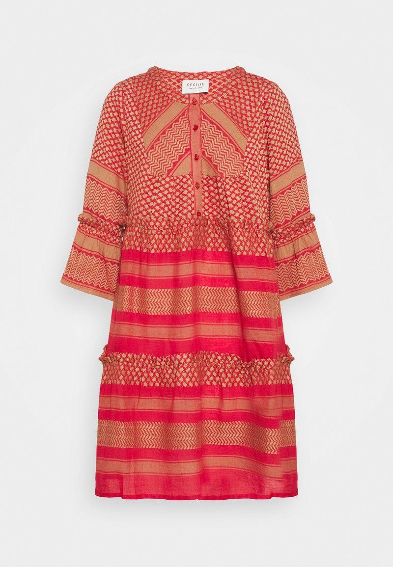 CECILIE copenhagen - JADE DRESS - Day dress - camel/red