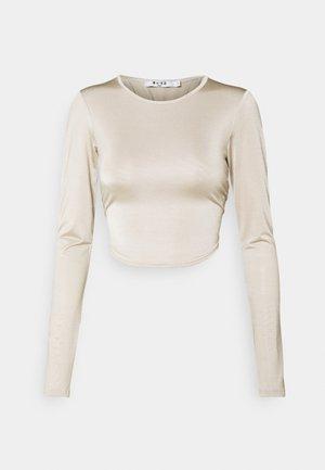 OPEN BACK TIE  - Long sleeved top - beige