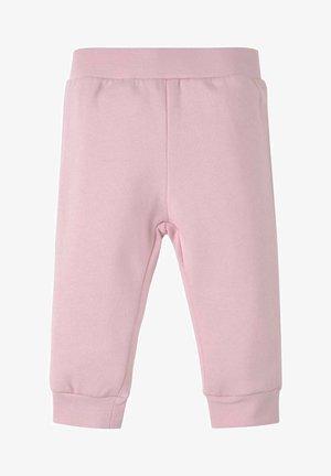 MIT ELASTISCHEM BUND - Tracksuit bottoms - pink lady rose