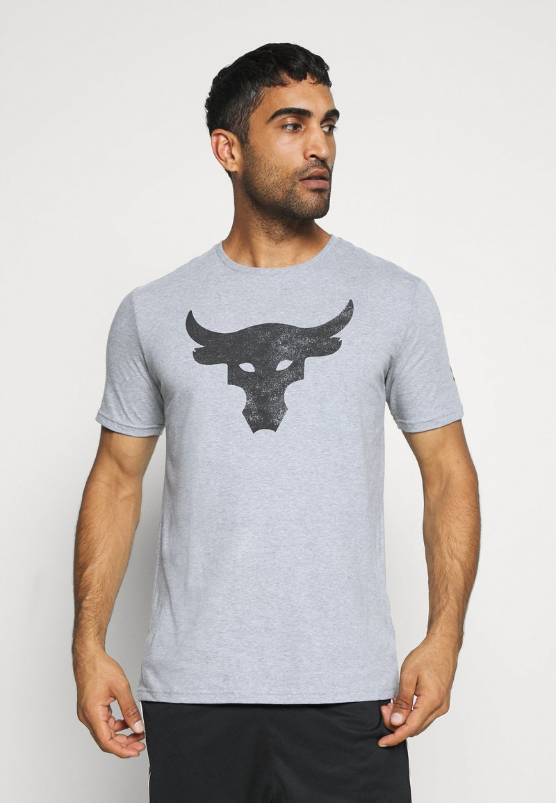 Under Armour - ROCK BRAHMA BULL - Camiseta estampada - steel light heather