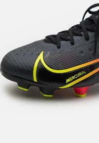 Nike Performance - MERCURIAL JR 8 PRO FG UNISEX - Kopačky lisovky - black/cyber/off noir - 5