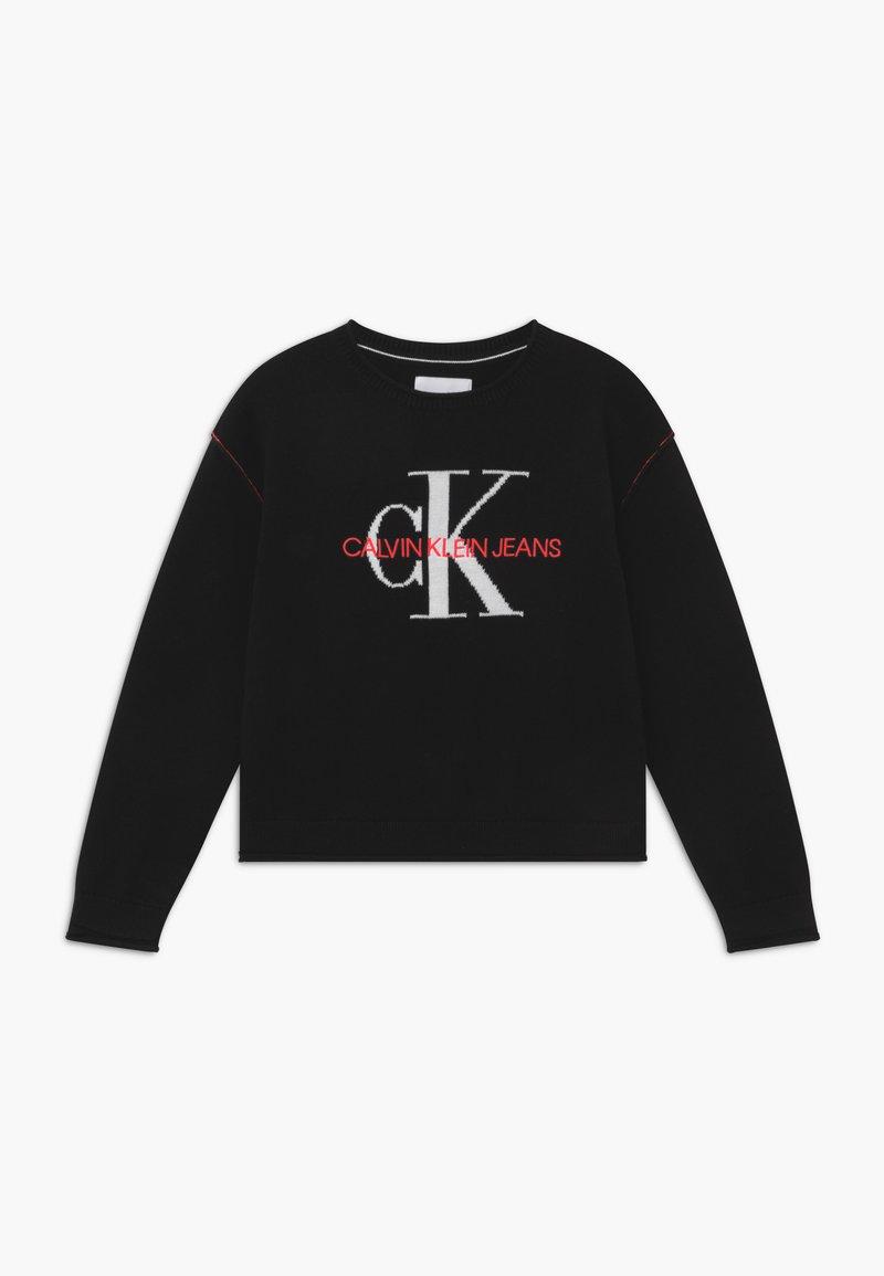 Calvin Klein Jeans - MONOGRAM - Svetr - black