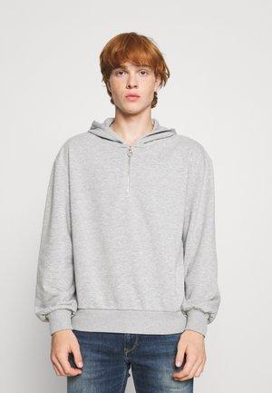 HALF ZIP HOODIE - Sweatshirt - grey