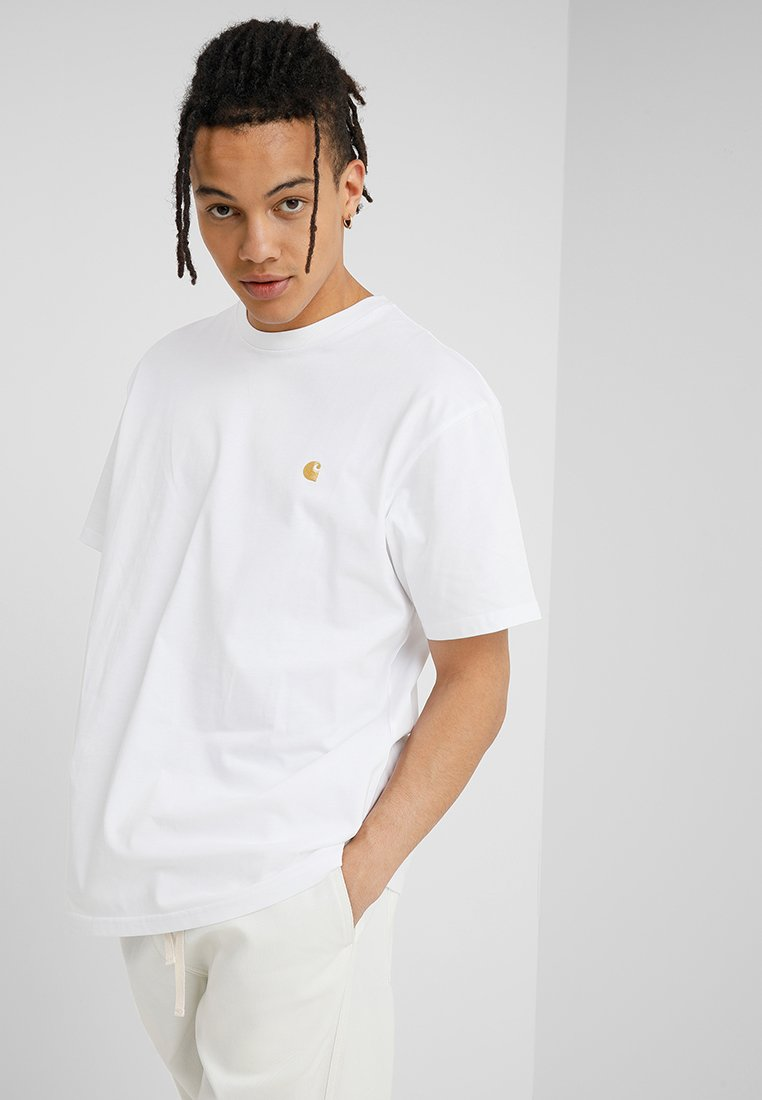 Carhartt WIP - CHASE  - Basic T-shirt - white/gold
