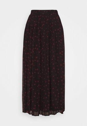 VIPLISSEAMESY MIDI SKIRT - Maxi skirt - black