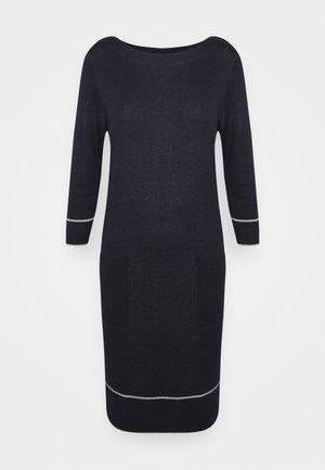 Strikket kjole - dark blue