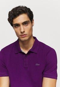 s.Oliver - KURZARM - Polo shirt - purple - 3