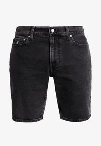 Calvin Klein Jeans - Szorty jeansowe - black with embro - 4