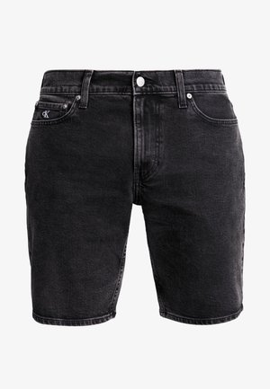 Denim shorts - black with embro