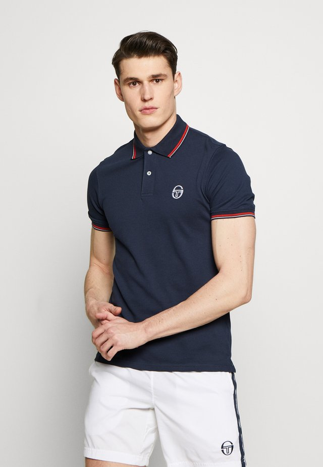 SERGIO 020 POLO - Polo shirt - navy/vintage red