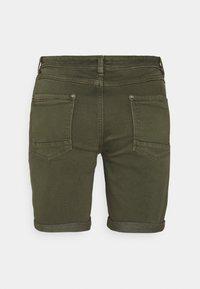 Esprit - Denim shorts - khaki green - 1