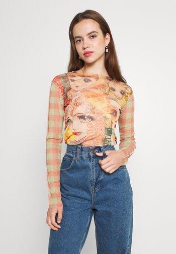 MANGA GIRLS SPLICED - Long sleeved top - multi