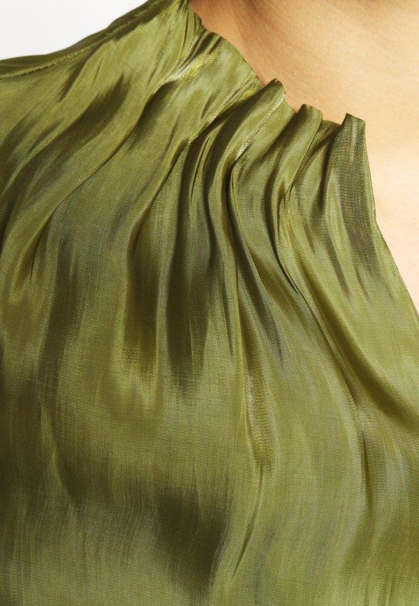 comma KURZARM - Bluzka - deep green/zielony UCLX