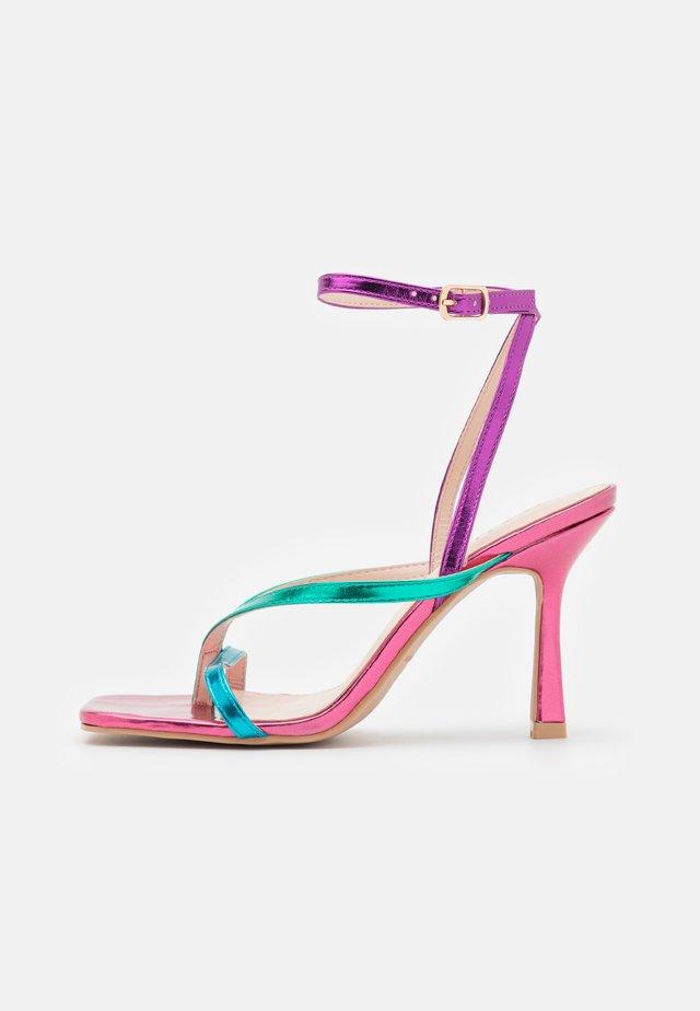 DORNEAH - Ballerina's met enkelbandjes - pink