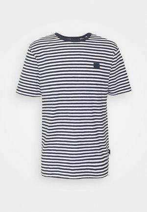 CHARLES STRIPE - T-shirt imprimé - navy