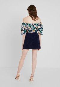 Missguided - MINI SKIRT - A-line skirt - navy - 2
