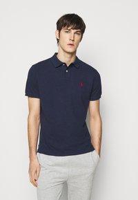 Polo Ralph Lauren - CUSTOM SLIM FIT MESH POLO - Polo shirt - spring navy heather - 0