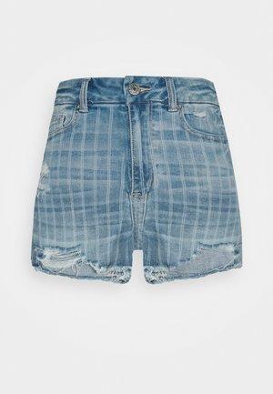 CURVY - Denim shorts - retro indigo