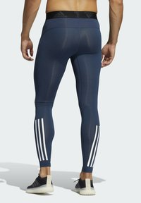 adidas Performance - TECHFIT 3-STRIPES LONG TIGHTS - Collants - blue - 1