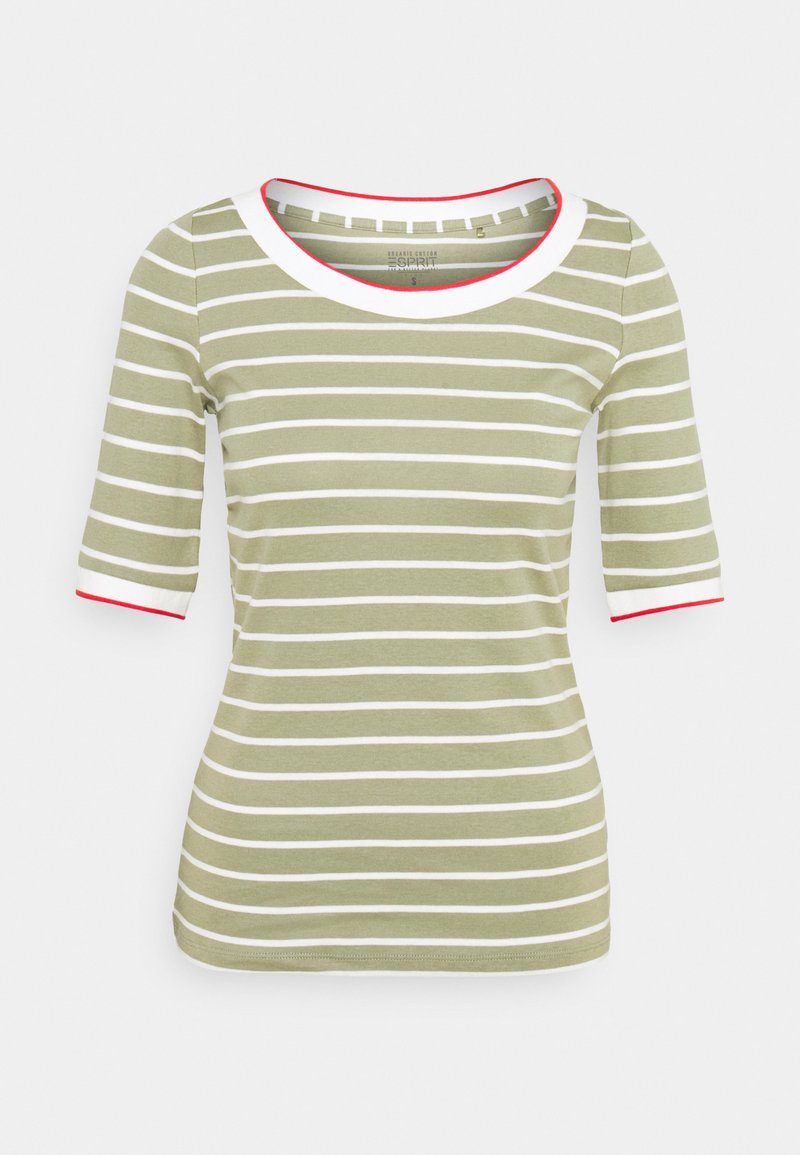 Esprit - TEE - Print T-shirt - light khaki