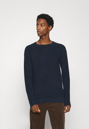 INJECTED CREW NECK  - Pullover - navy blue heather