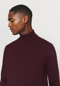 Selected Homme - SLHBERG ROLL NECK - Jumper - winetasting melange - 4