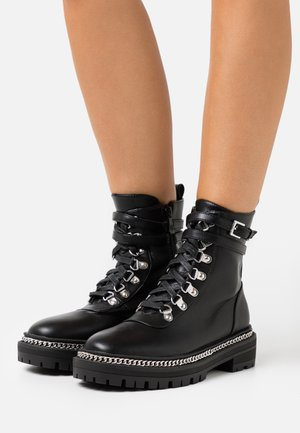 TIFFANY - Platform ankle boots - black