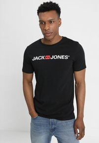 Jack & Jones - JJECORP LOGO CREW NECK  - Print T-shirt - black - 0