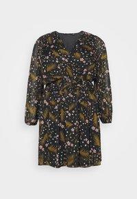 VMHADDIE SHORT GATHERING DRESS - Denní šaty - black