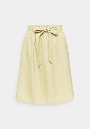 SKIRT - A-line skirt - muted lime