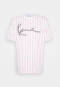Karl Kani - SIGNATURE PINSTRIPE TEE - T-shirt imprimé - white - 3