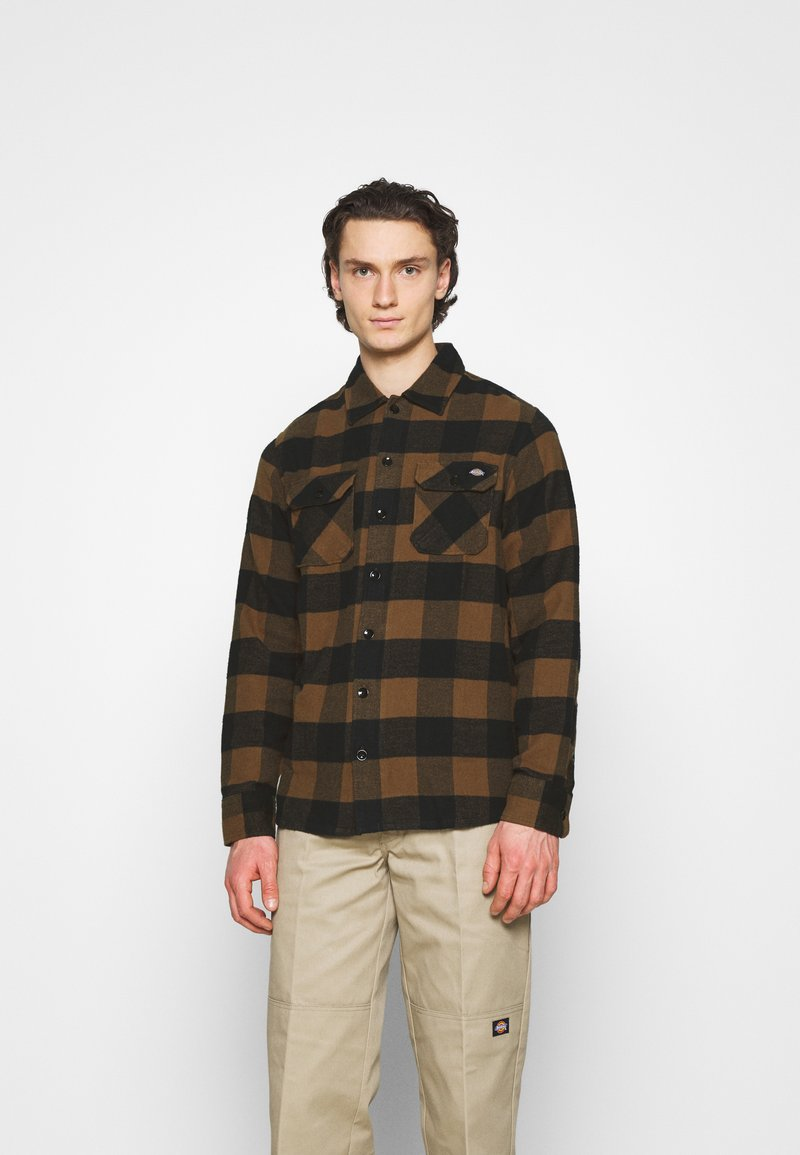 Dickies - NEW SACRAMENTO - Camicia - brown duck