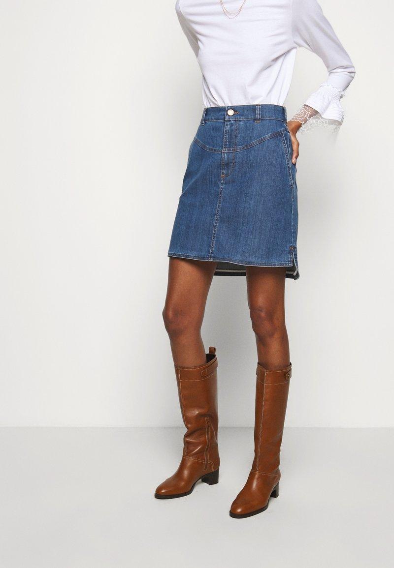 See by Chloé - A-line skirt - deep denim
