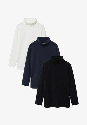 3PACK - Maglietta a manica lunga - gebroken wit