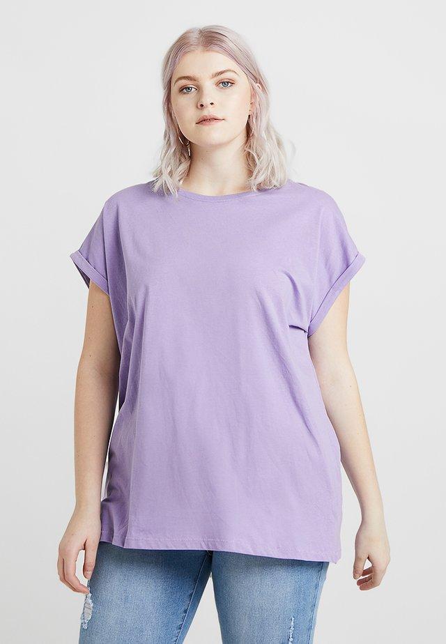 LADIES EXTENDED SHOULDER TEE - T-shirt basic - lavender