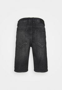 TOM TAILOR - JOSH - Denim shorts - clean dark stone grey denim - 1