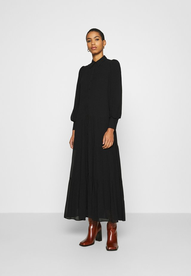 MAXI - Robe chemise - black