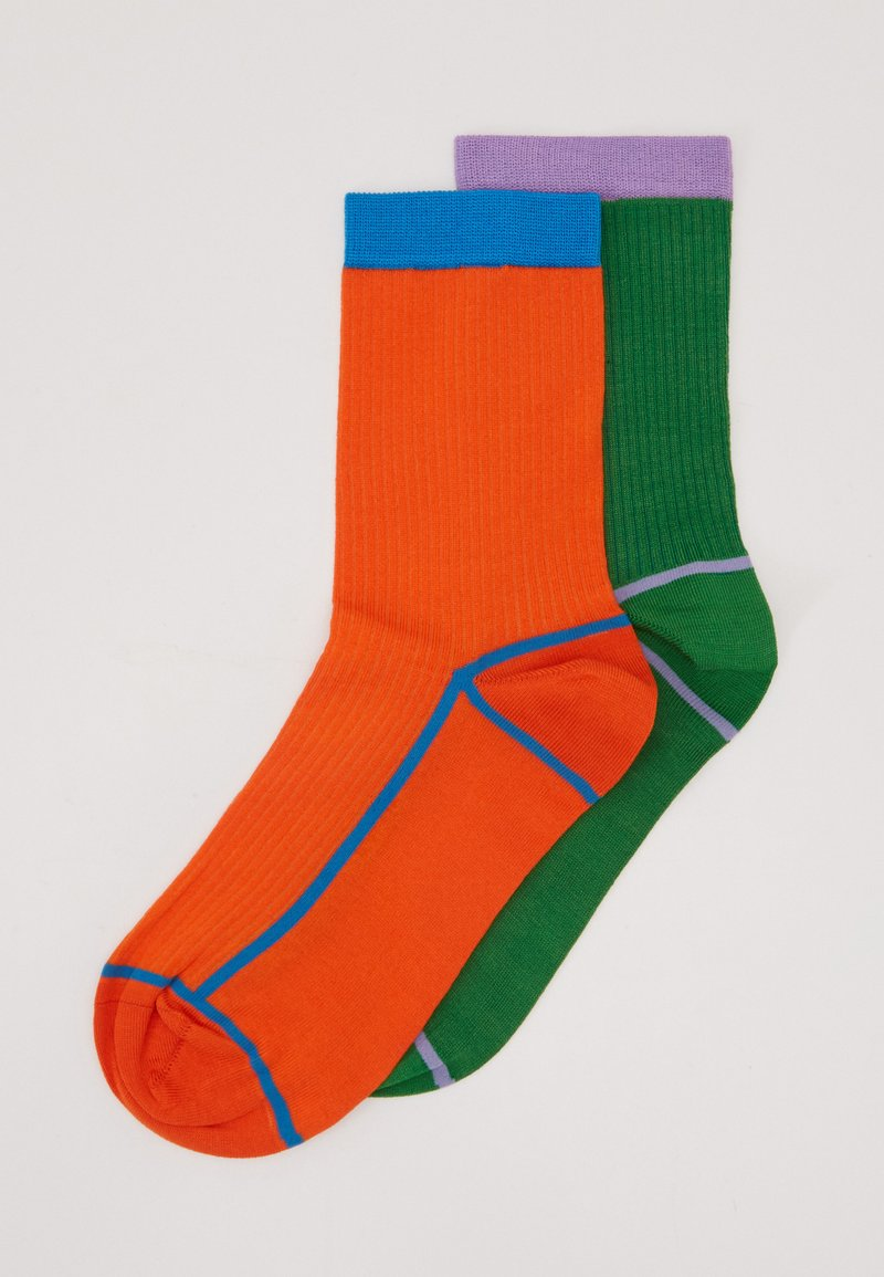Hysteria by Happy Socks - CREW SOCK 2 PACK - Calcetines - green/orange