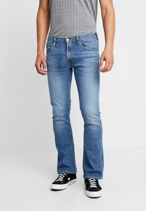 TRENTON - Bootcut jeans - blue denim