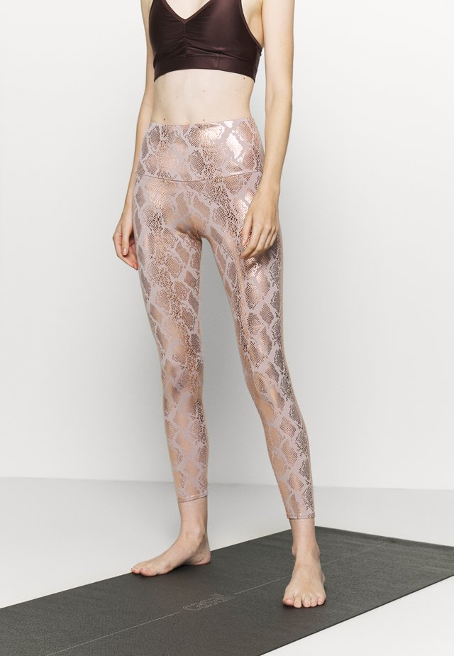 FOIL MIDI - Legging - light pink
