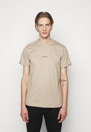 LENS - T-shirt con stampa - beige