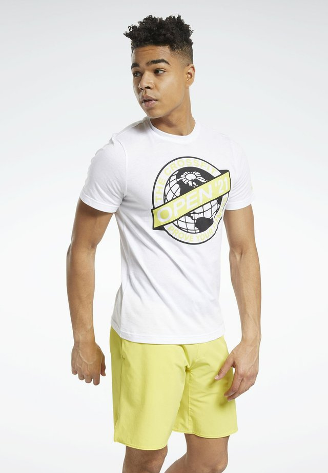 RC 2021 OPEN TEE - T-shirts med print - white