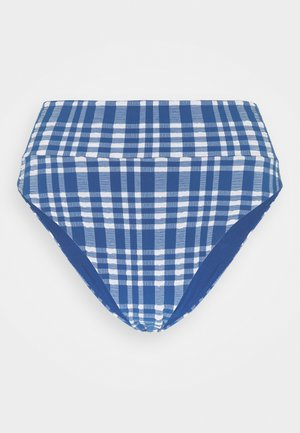 HI CUT CHEEKY PLAID - Bikini bottoms - jeweled blue