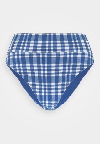 HI CUT CHEEKY PLAID - Bikinibroekje - jeweled blue