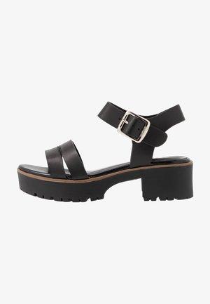 PLEXY - Sandalen met plateauzool - black