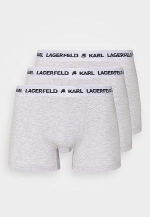 LOGO TRUNK 3 PACK - Underkläder - grey melange