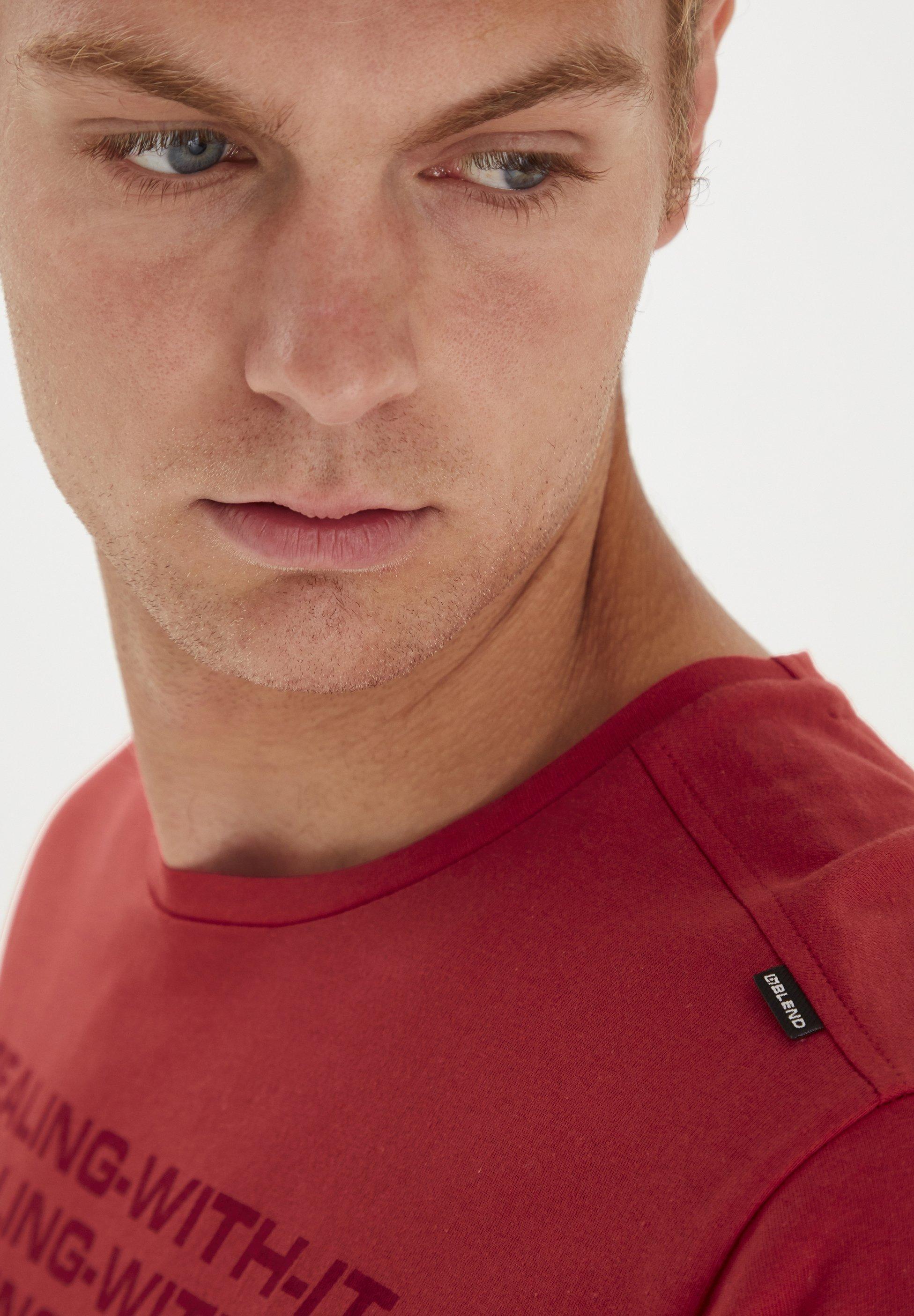 Blend REGULAR FIT - Print T-shirt - flame scarlet xuVDo