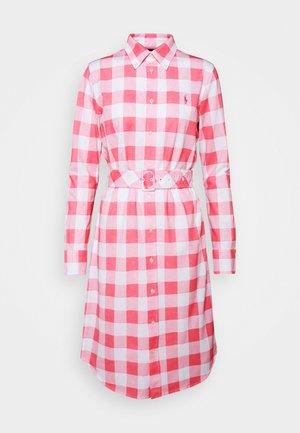 Shirt dress - ribbon pink/white