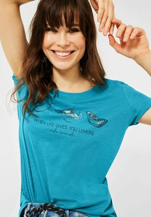MOTIV - Print T-shirt - türkis